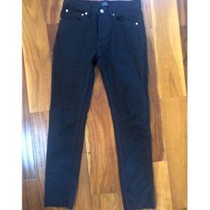 Size 26 Black APC Japanese Denim Jeans Raw Hem